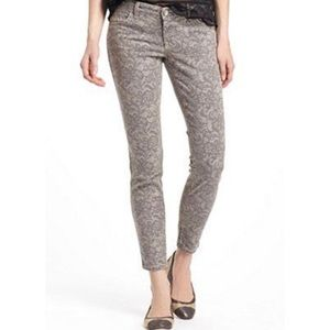 Level 99 Janice ultra skinny lace print jeans